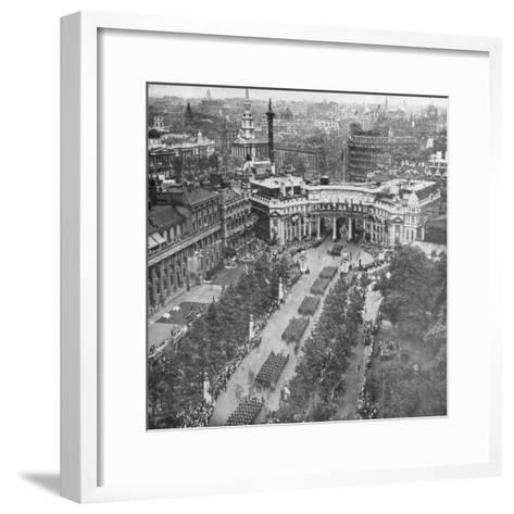 Victory Parade Passing Through the Admiralty Arch and Down the Mall, 19th July, 1919--Framed Art Print