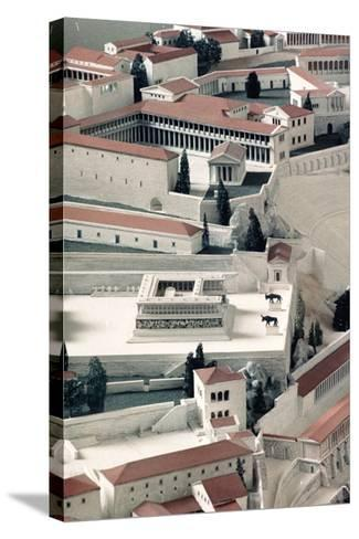 A Model of the Ancient Greek City of Pergamon--Stretched Canvas Print