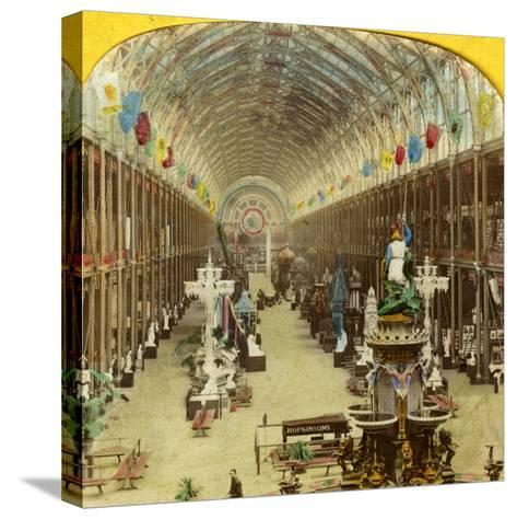 Interior View of the International Exhibition, London--Stretched Canvas Print