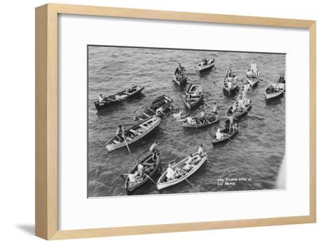 Diving Boys at Las Palmas, Gran Canaria, Canary Islands, Spain, 20th Century--Framed Art Print