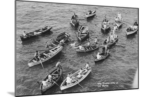 Diving Boys at Las Palmas, Gran Canaria, Canary Islands, Spain, 20th Century--Mounted Giclee Print