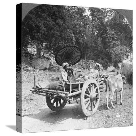 Family Journeying Through the Jungle Near Mingun, Burma, 1908--Stretched Canvas Print