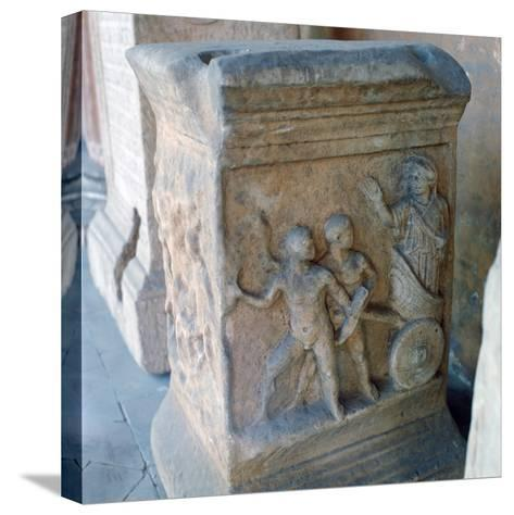 Roman Marble Carving--Stretched Canvas Print