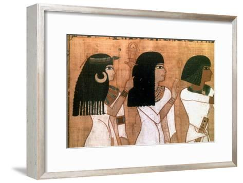 Three Sisters, Detail from an Ancient Egyptian Mural--Framed Art Print