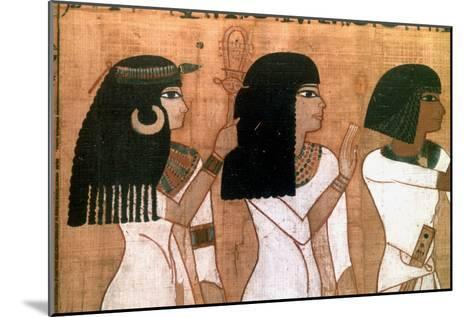 Three Sisters, Detail from an Ancient Egyptian Mural--Mounted Giclee Print