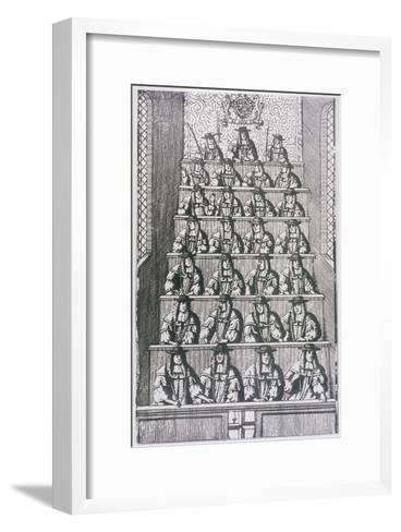 View of the Lord Mayor and Court of Aldermen, Depicted in 1681, (C195)--Framed Art Print