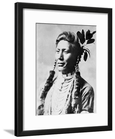 Yellow Dog, North American Indian, C1885-90--Framed Art Print