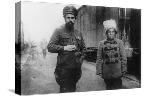 Pavel Dybenko and Nestor Makhno--Stretched Canvas Print