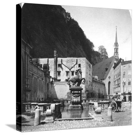 The Pferdeschwemme (Horse Wel), Salzburg, Austria, C1900s-Wurthle & Sons-Stretched Canvas Print