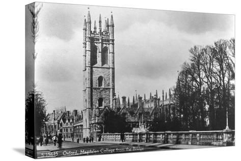 Magdalen College, Oxford, Oxfordshire, Early 20th Century- Kingsway-Stretched Canvas Print