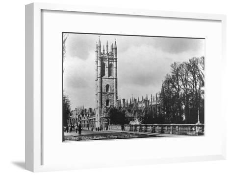 Magdalen College, Oxford, Oxfordshire, Early 20th Century- Kingsway-Framed Art Print