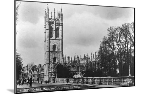 Magdalen College, Oxford, Oxfordshire, Early 20th Century- Kingsway-Mounted Giclee Print