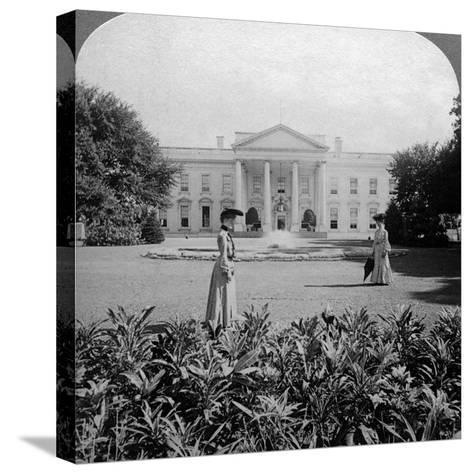 The White House, Washington Dc, USA, C Late 19th Century-Underwood & Underwood-Stretched Canvas Print