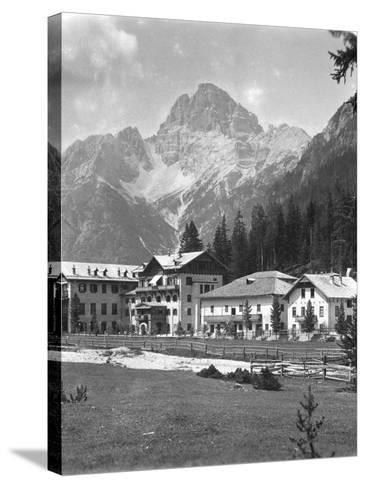 Schluderbach and Croda Pass (Croda Ros), Tyrol, Austria, C1900s-Wurthle & Sons-Stretched Canvas Print