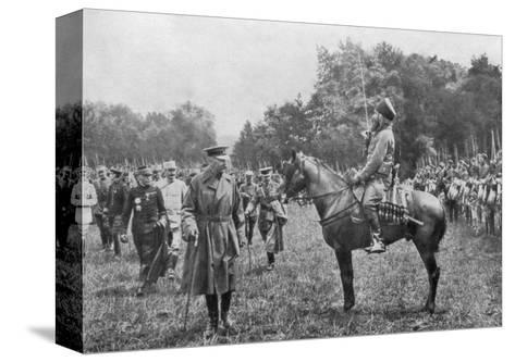Lord Kitchener Inspecting Algerian Troops, France, World War I, 16 August 1915--Stretched Canvas Print