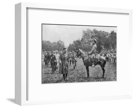 Lord Kitchener Inspecting Algerian Troops, France, World War I, 16 August 1915--Framed Art Print