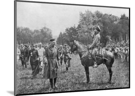 Lord Kitchener Inspecting Algerian Troops, France, World War I, 16 August 1915--Mounted Giclee Print