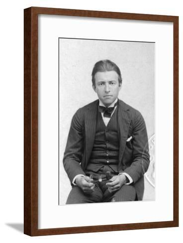Early Passport Photograph of Claude Rains, English Actor, Early 20th Century--Framed Art Print