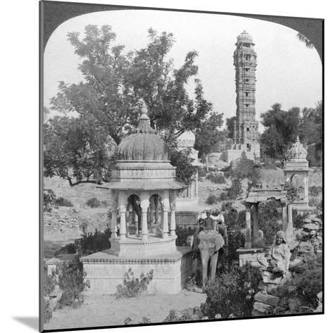 Tower of Victory Amd Royal Cenotaphs, Chittaurgarh, India, 1904-Underwood & Underwood-Mounted Giclee Print