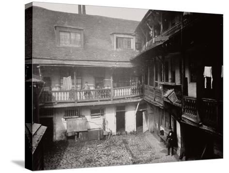 Courtyard at the Oxford Arms Inn, Warwick Lane, from the First Floor, City of London, 1875--Stretched Canvas Print