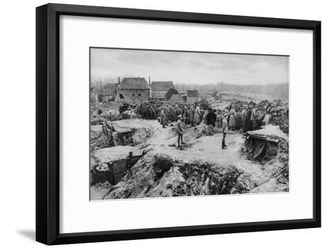 German Infantry Shelters, World War I, 1915--Framed Art Print