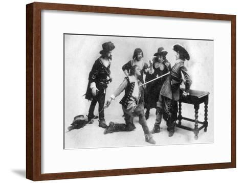 The Duel, Scene from Act I of the Breed of the Treshams by John Rutherford, 20th Century--Framed Art Print
