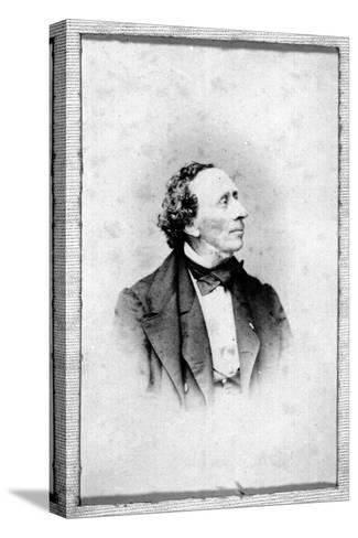 Portrait of Hans Christian Andersen (1805-187)--Stretched Canvas Print