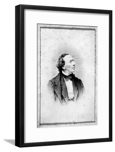 Portrait of Hans Christian Andersen (1805-187)--Framed Art Print