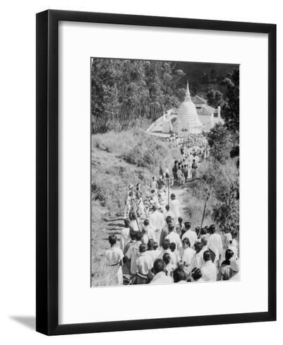 Procession to a Buddhist Temple, Diyatalawa, Ceylon, C1945--Framed Art Print