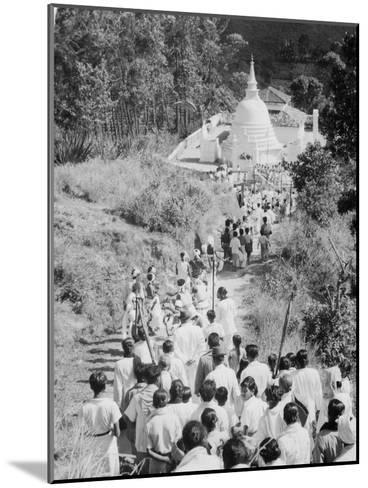 Procession to a Buddhist Temple, Diyatalawa, Ceylon, C1945--Mounted Giclee Print