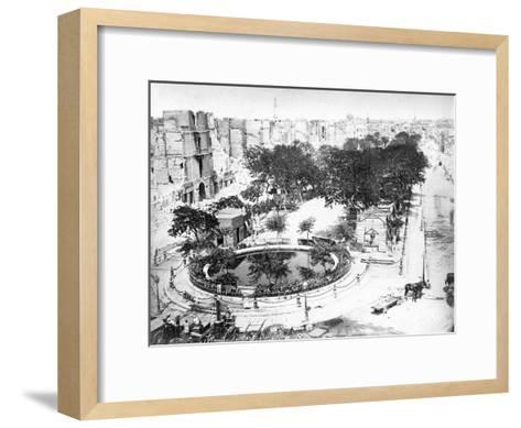 The Grand Square after the Fire, Alexandria, Egypt, C1910S--Framed Art Print