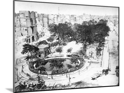 The Grand Square after the Fire, Alexandria, Egypt, C1910S--Mounted Giclee Print