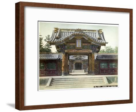 Temple Gate, Shiba, Tokyo, Japan, Early 20th Century--Framed Art Print