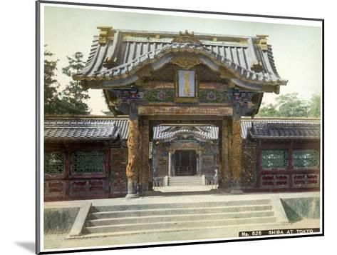 Temple Gate, Shiba, Tokyo, Japan, Early 20th Century--Mounted Giclee Print