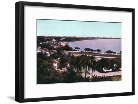 View from Malabar Hill, Bombay, India, Early 20th Century--Framed Art Print