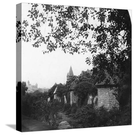 Stadtgraben, Bavaria, Germany, C1900s-Wurthle & Sons-Stretched Canvas Print