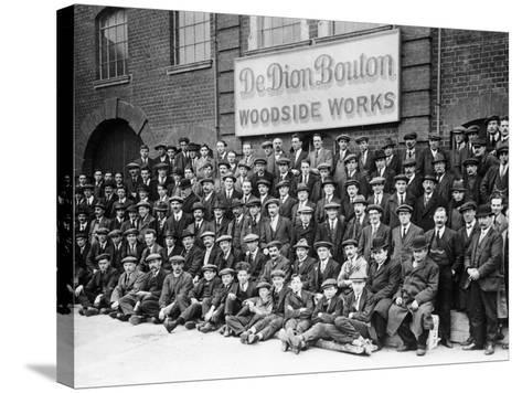 Workers Outside the British De Dion Bouton Works, Early 1920S--Stretched Canvas Print