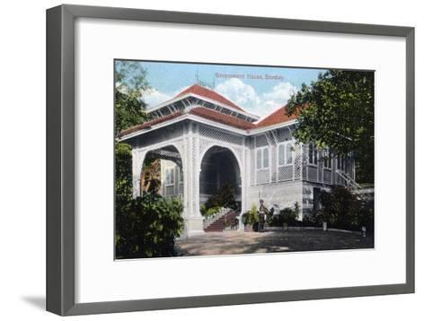 Government House, Bombay, India, Early 20th Century--Framed Art Print