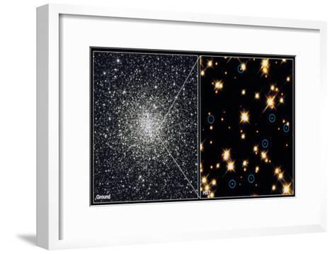White Dwarf Stars in Globular Cluster M4H Bond (Stsc)--Framed Art Print