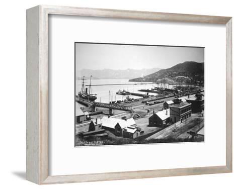 Lyttelton, Canterbury, South Island, New Zealand, 1880- Burton Brothers-Framed Art Print
