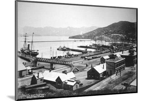 Lyttelton, Canterbury, South Island, New Zealand, 1880- Burton Brothers-Mounted Giclee Print