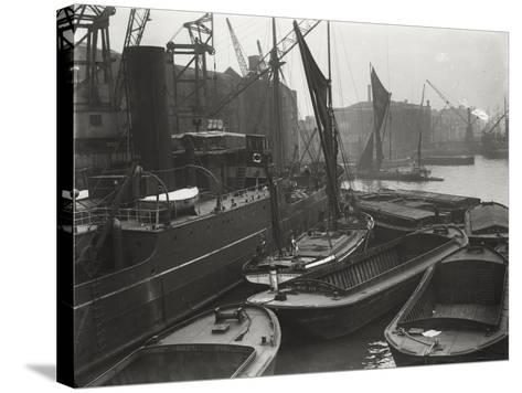 Entrance to St Katharine's Dock, London, C1925--Stretched Canvas Print