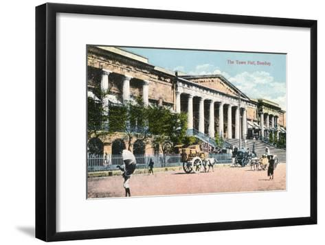 The Town Hall, Bombay, India, Early 20th Century--Framed Art Print