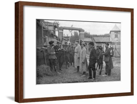 Interrogation of German Prisoners, France, August 1914--Framed Art Print