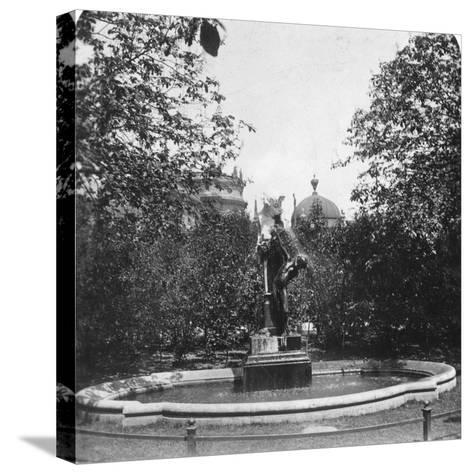 Fountain, Munich, Germany, C1900-Wurthle & Sons-Stretched Canvas Print