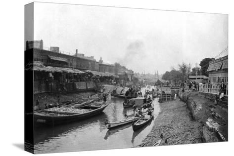 Scene from Whitely Bridge, Ashar, Iraq, 1917-1919--Stretched Canvas Print