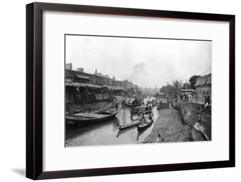 Scene from Whitely Bridge, Ashar, Iraq, 1917-1919--Framed Art Print
