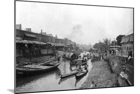 Scene from Whitely Bridge, Ashar, Iraq, 1917-1919--Mounted Giclee Print