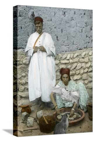 Mohamed Ben Ali and His Wife, El Kantara, Tunisia--Stretched Canvas Print