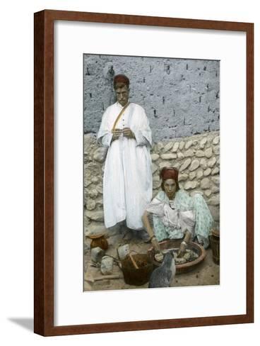 Mohamed Ben Ali and His Wife, El Kantara, Tunisia--Framed Art Print